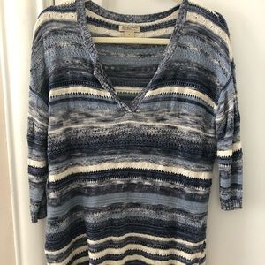 Lucky Brand Blue Striped Sweater